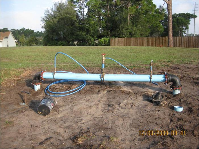 Temporary 6-inch Water Main for Testing